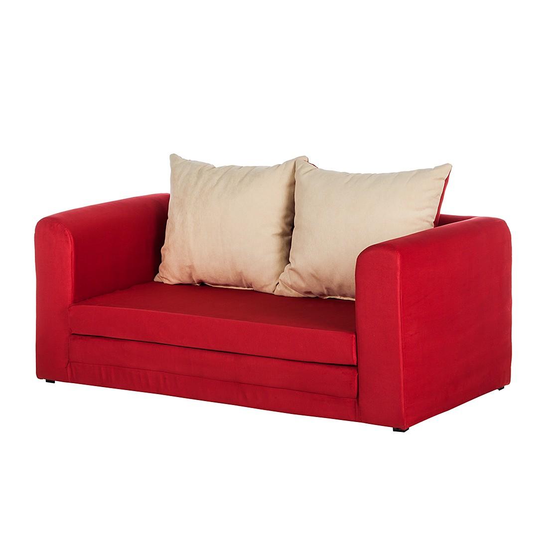 Schlafsofa Petty – Microfaser Rot, mooved jetzt kaufen