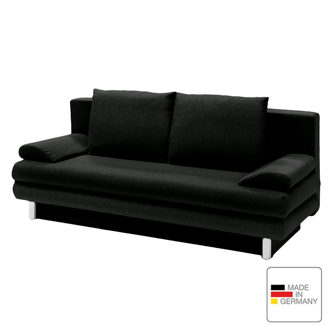 Schlafsofa Brisane – Webstoff – Schwarz, Studio Monroe jetzt kaufen