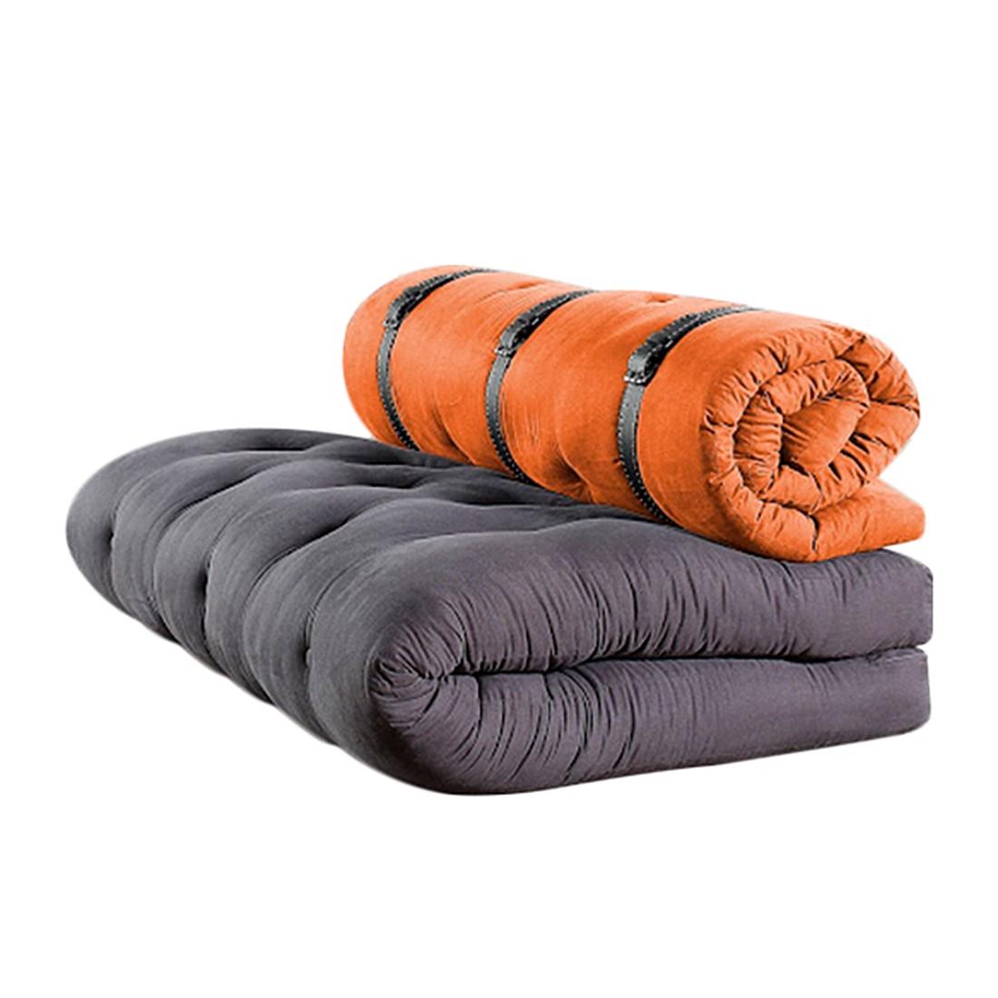 Schlafsofa Buckle Up – Futon Grau/Orange, Karup online kaufen