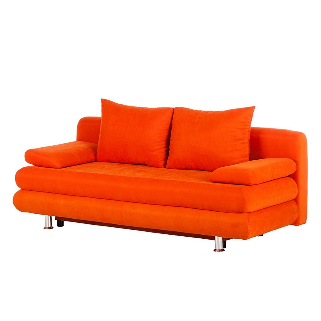 Canap convertible dorothy tissu orange - Canape convertible prix usine ...
