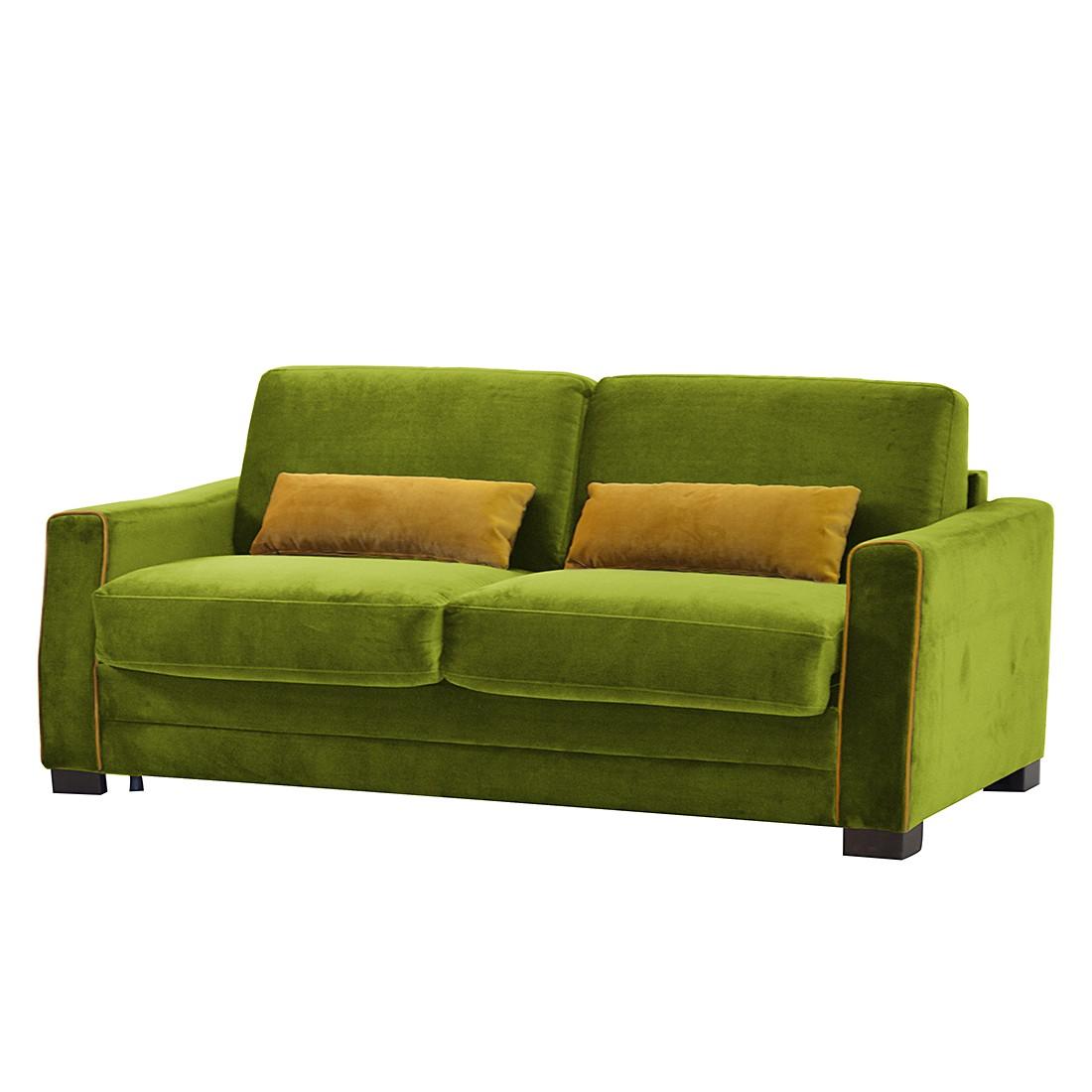 Schlafsofa Evangeline – Microfaser – Grün, roomscape günstig