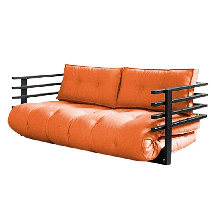Futon azur funk 160 naturel futon gris comparer les prix et promo - Canape convertible orange ...