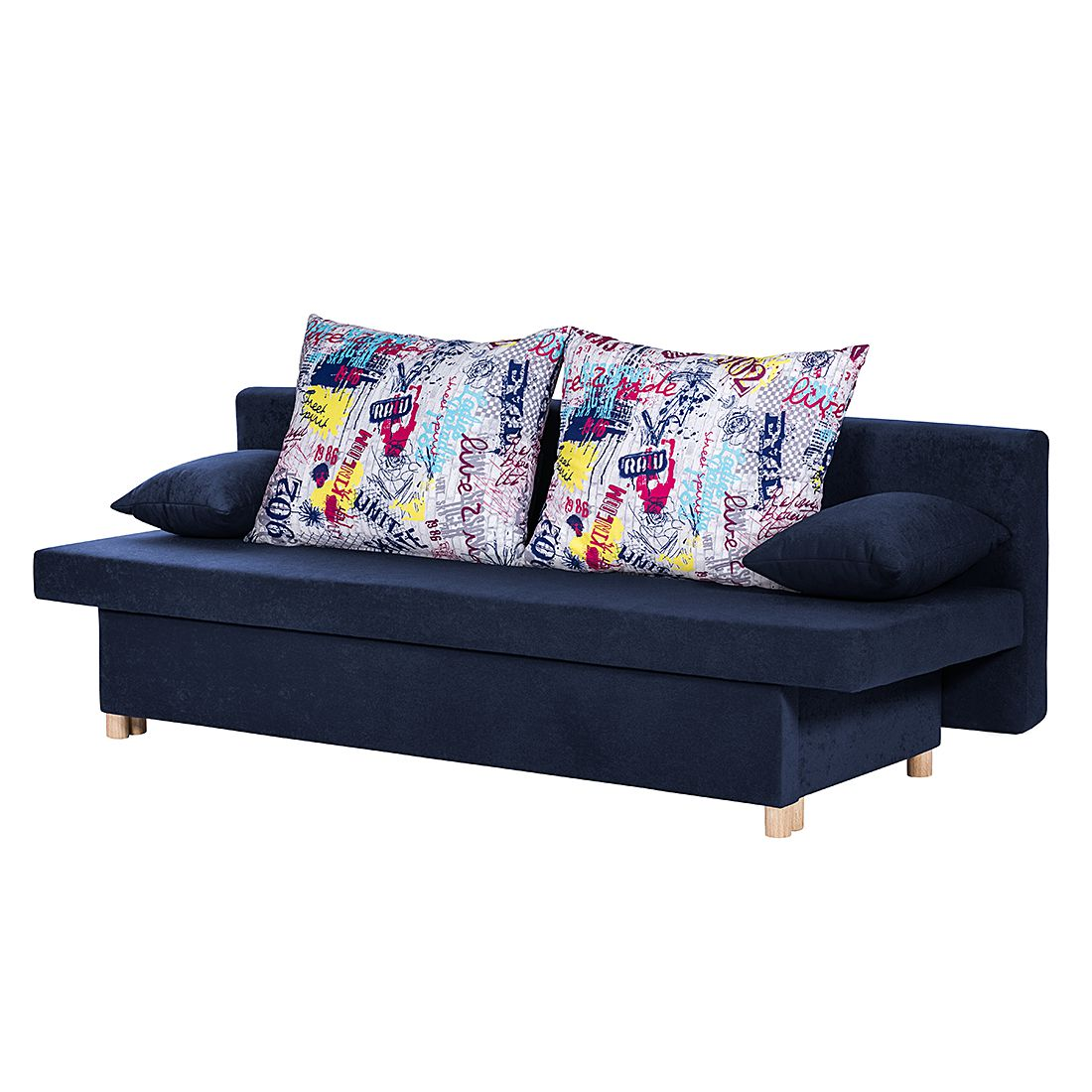 Schlafsofa Homely – Microfaser Blau, mooved kaufen
