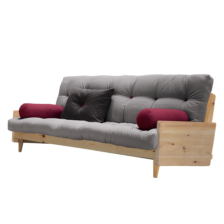 Slaapbank buckle up futon grijsbordeaux karup in de for Schlafsofa 80x200