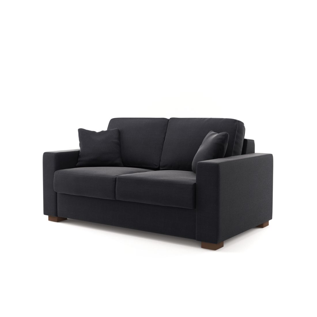 schlafsofa kirkeby 2 sitzer liv iii charcoal schwarz. Black Bedroom Furniture Sets. Home Design Ideas
