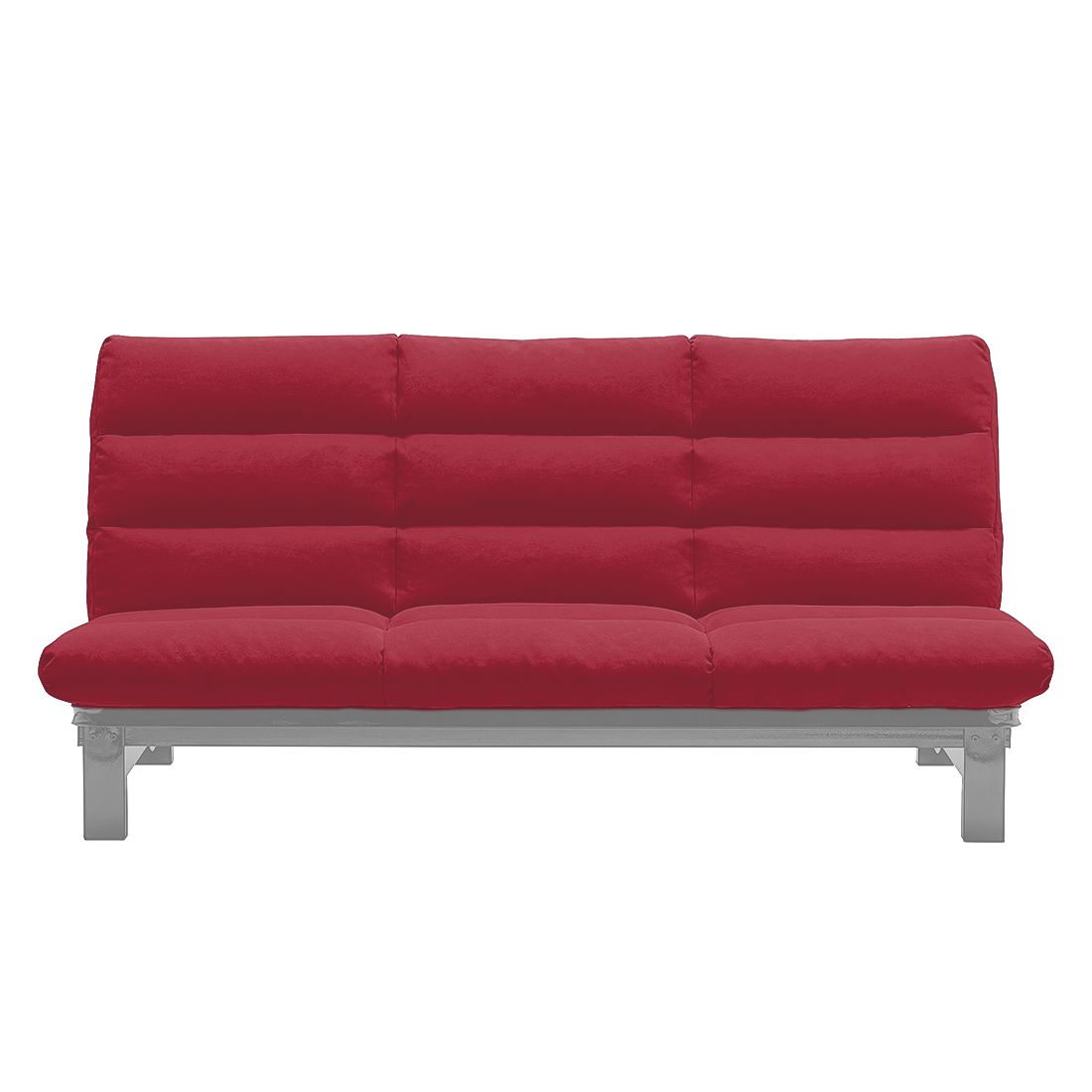 schlafsofa klack microfaser rot aluminium studio monroe g nstig kaufen. Black Bedroom Furniture Sets. Home Design Ideas