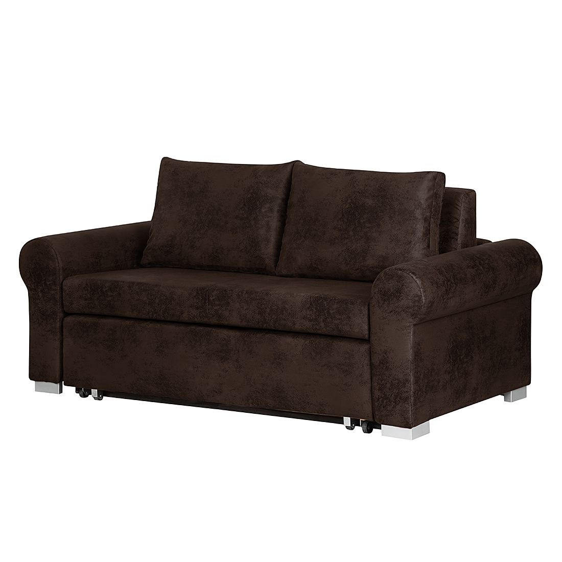 schlafsofa latina country antiklederoptik dunkelbraun breite 205 cm roomscape online kaufen. Black Bedroom Furniture Sets. Home Design Ideas