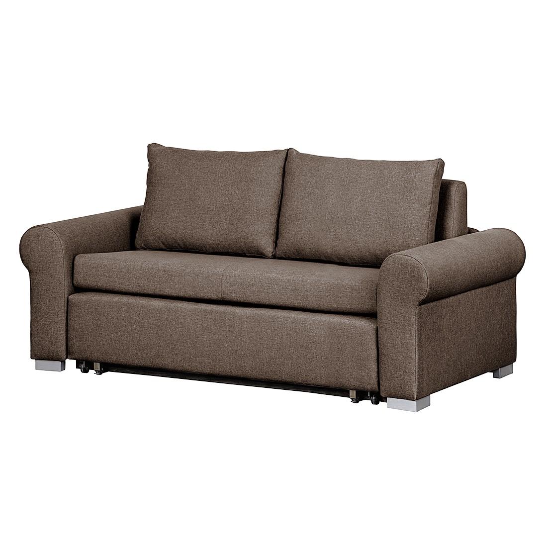 Schlafsofa Latina Country – Webstoff Braun – Breite: 205 cm, roomscape günstig kaufen