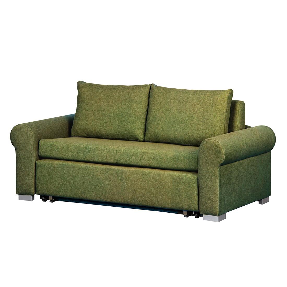 Schlafsofa Latina Country – Webstoff Grün – Breite: 165 cm, roomscape günstig online kaufen