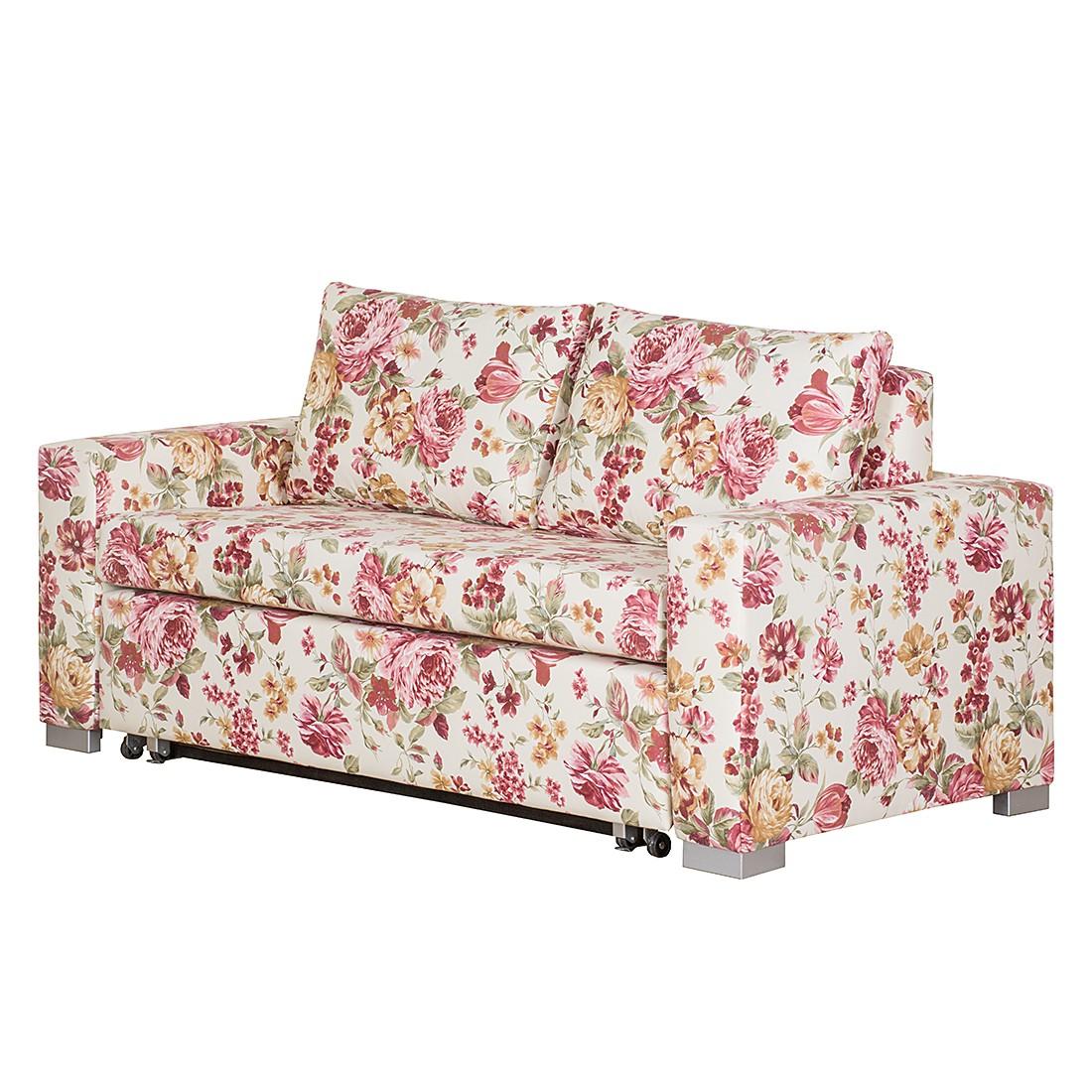 Schlafsofa Latina – Webstoff Beige/Pink geblümt – 185 cm, roomscape günstig bestellen