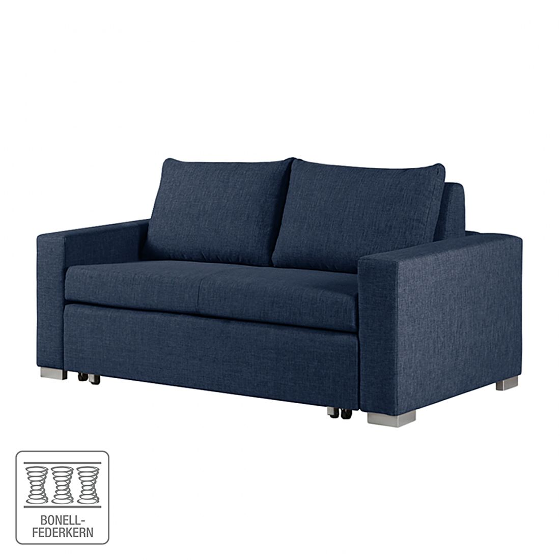 schlafsofa latina webstoff blau breite 150 cm ebay. Black Bedroom Furniture Sets. Home Design Ideas