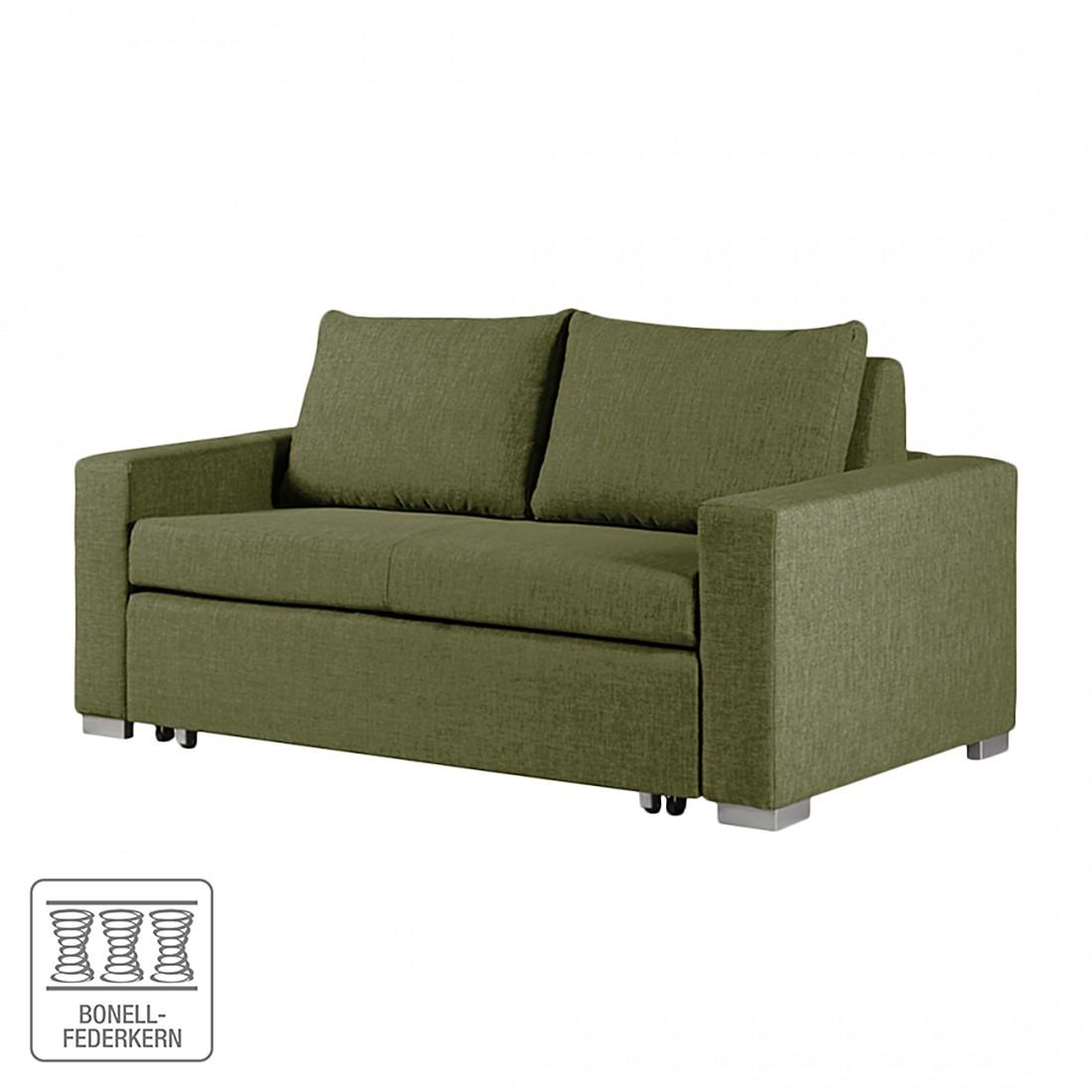 Schlafsofa Latina – Webstoff Grün – Breite: 190 cm, roomscape kaufen