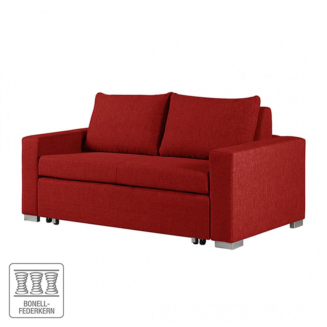Schlafsofa Latina – Webstoff Rot – Breite: 170 cm, roomscape online bestellen