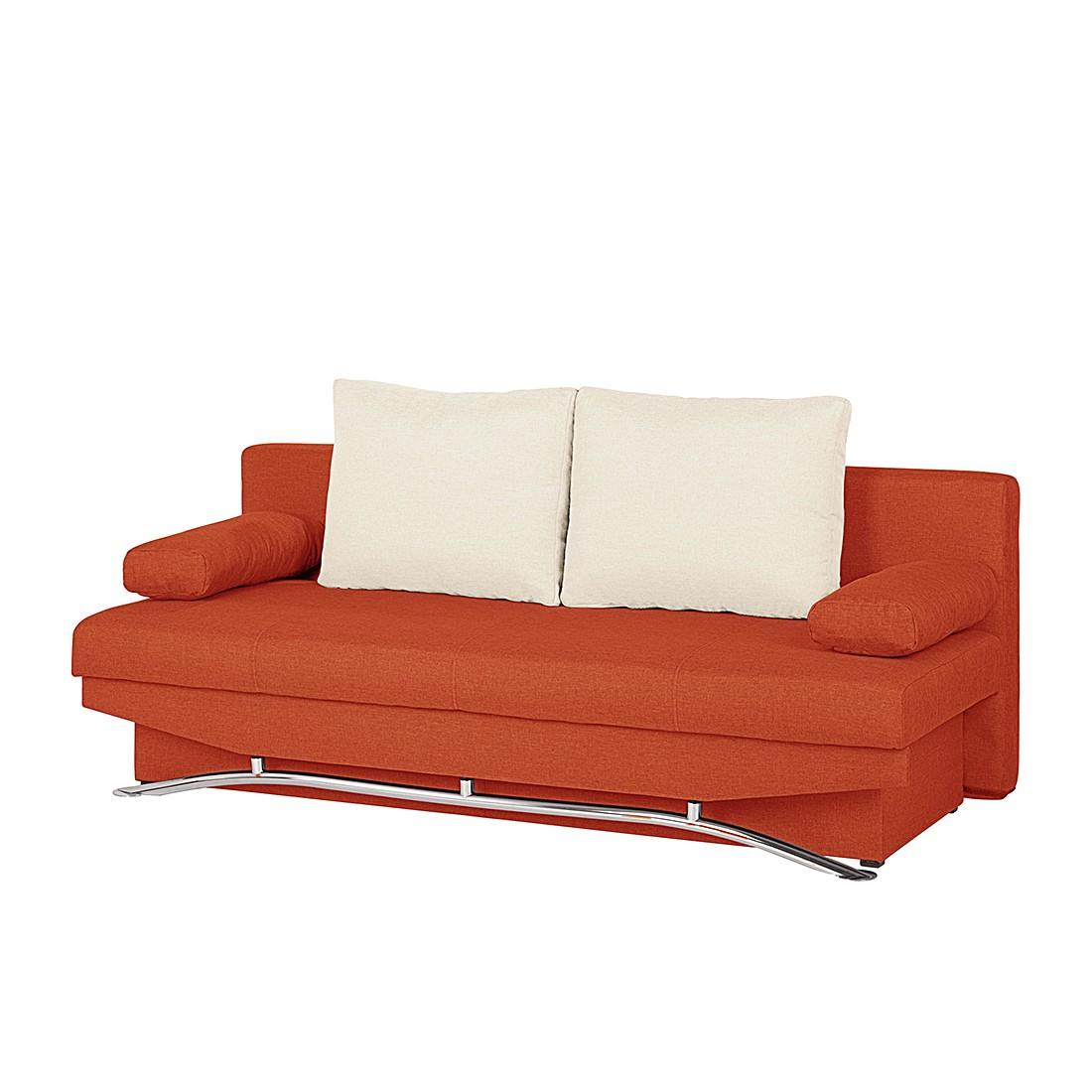 Schlafsofa Lenni – Webstoff Orange, mooved online bestellen