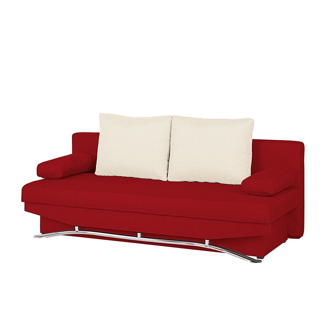 Schlafsofa Lenni – Webstoff Rot, mooved günstig