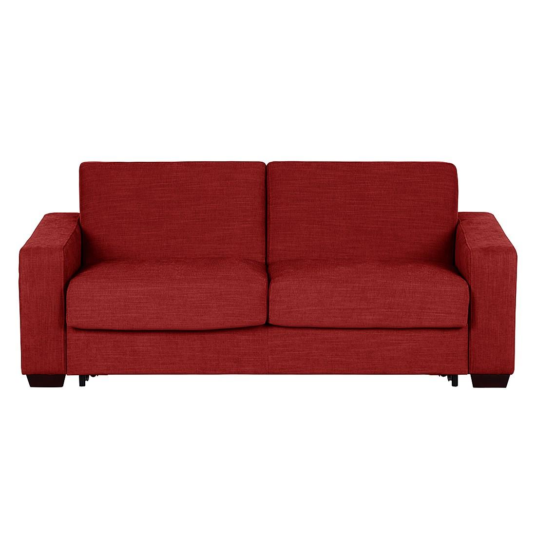 Schlafsofa Lindos – Webstoff – Rot, Modoform jetzt bestellen