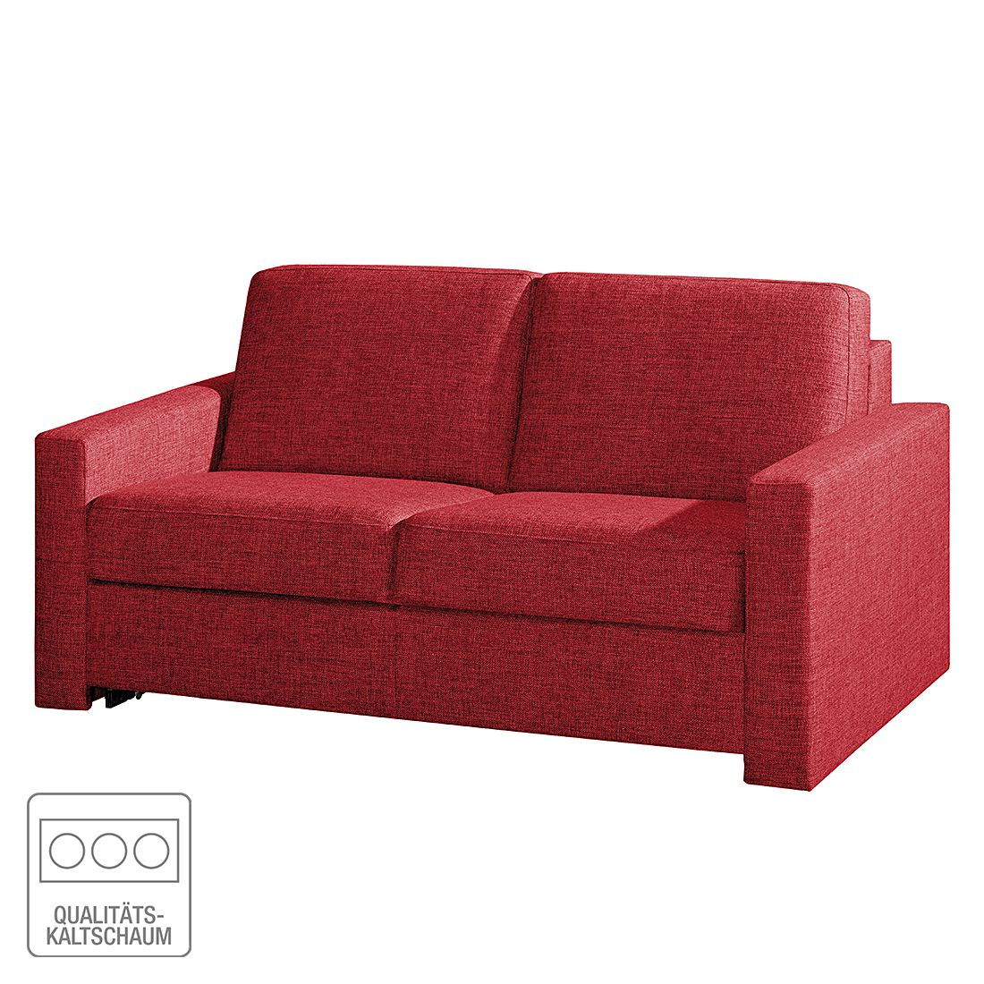 schlafsofa louis webstoff rot breite 168 cm modoform. Black Bedroom Furniture Sets. Home Design Ideas
