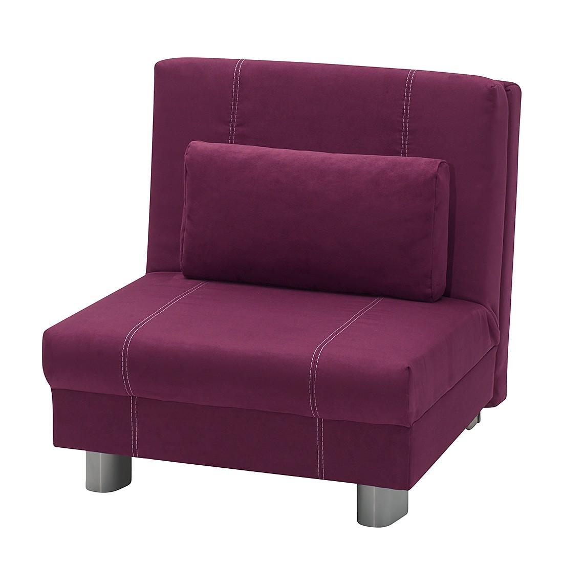 schlafsofa mona microfaser lila liegefl che 140 x 195. Black Bedroom Furniture Sets. Home Design Ideas