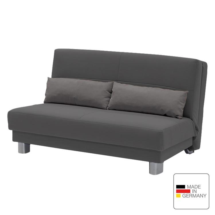 Schlafsofa Motard – Flachgewebe – Grau – 140 cm, Studio Monroe jetzt kaufen