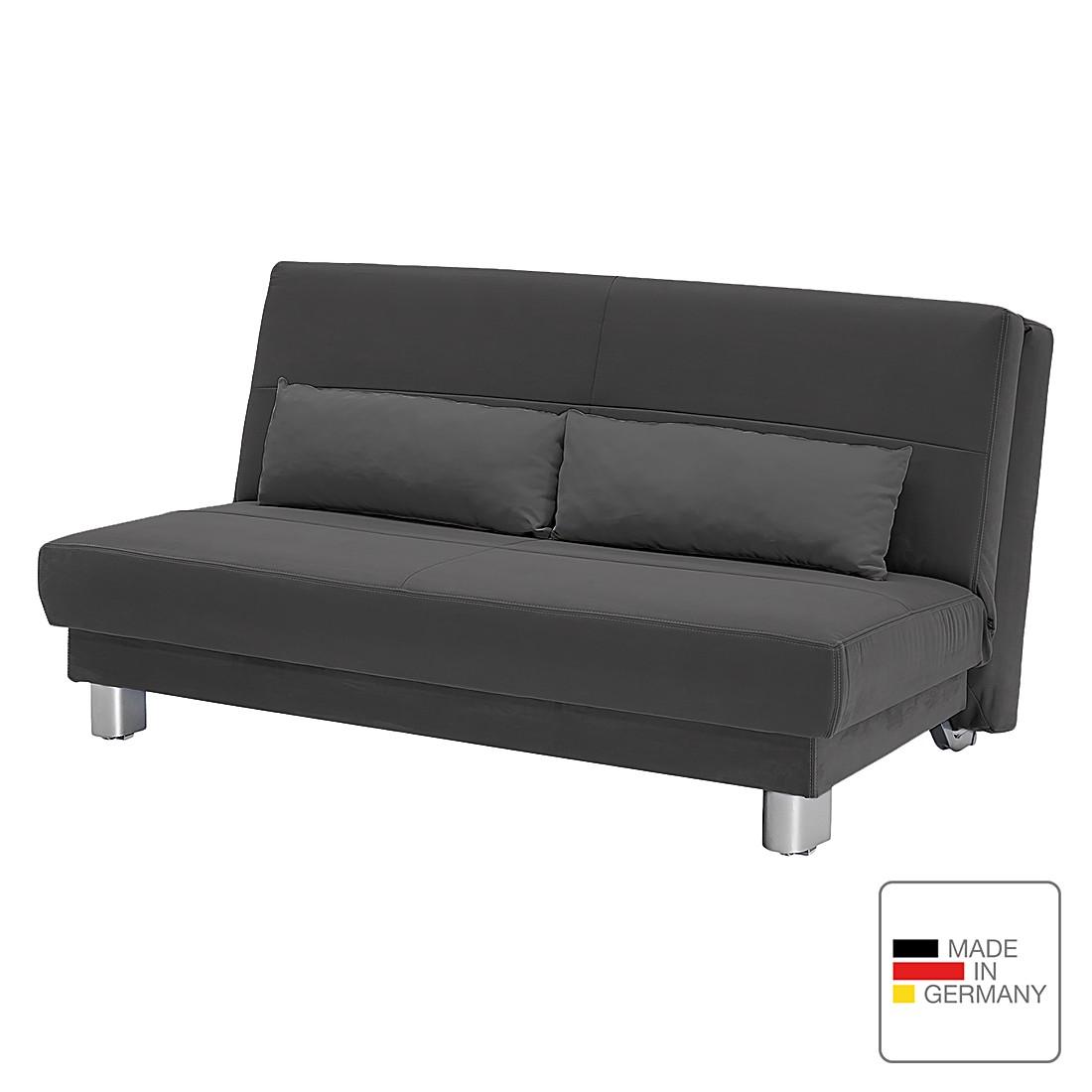 Schlafsofa Motard – Flachgewebe – Grau – 158 cm, Studio Monroe günstig kaufen
