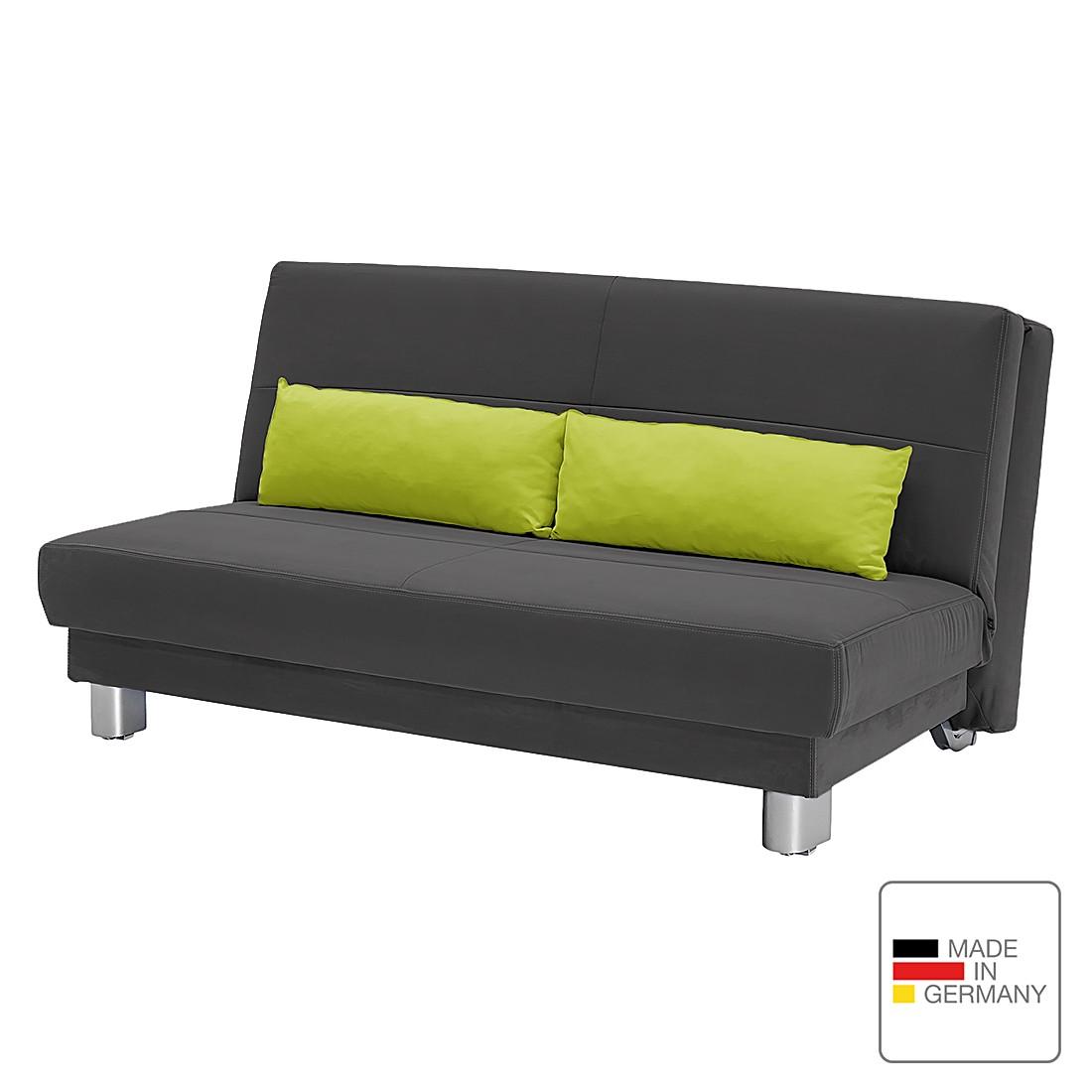 Schlafsofa Motard – Flachgewebe – Grau / Grün – 158 cm, Studio Monroe online kaufen
