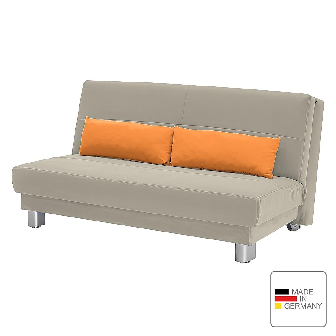Schlafsofa Motard – Flachgewebe – Sand / Orange – 158 cm, Studio Monroe jetzt bestellen