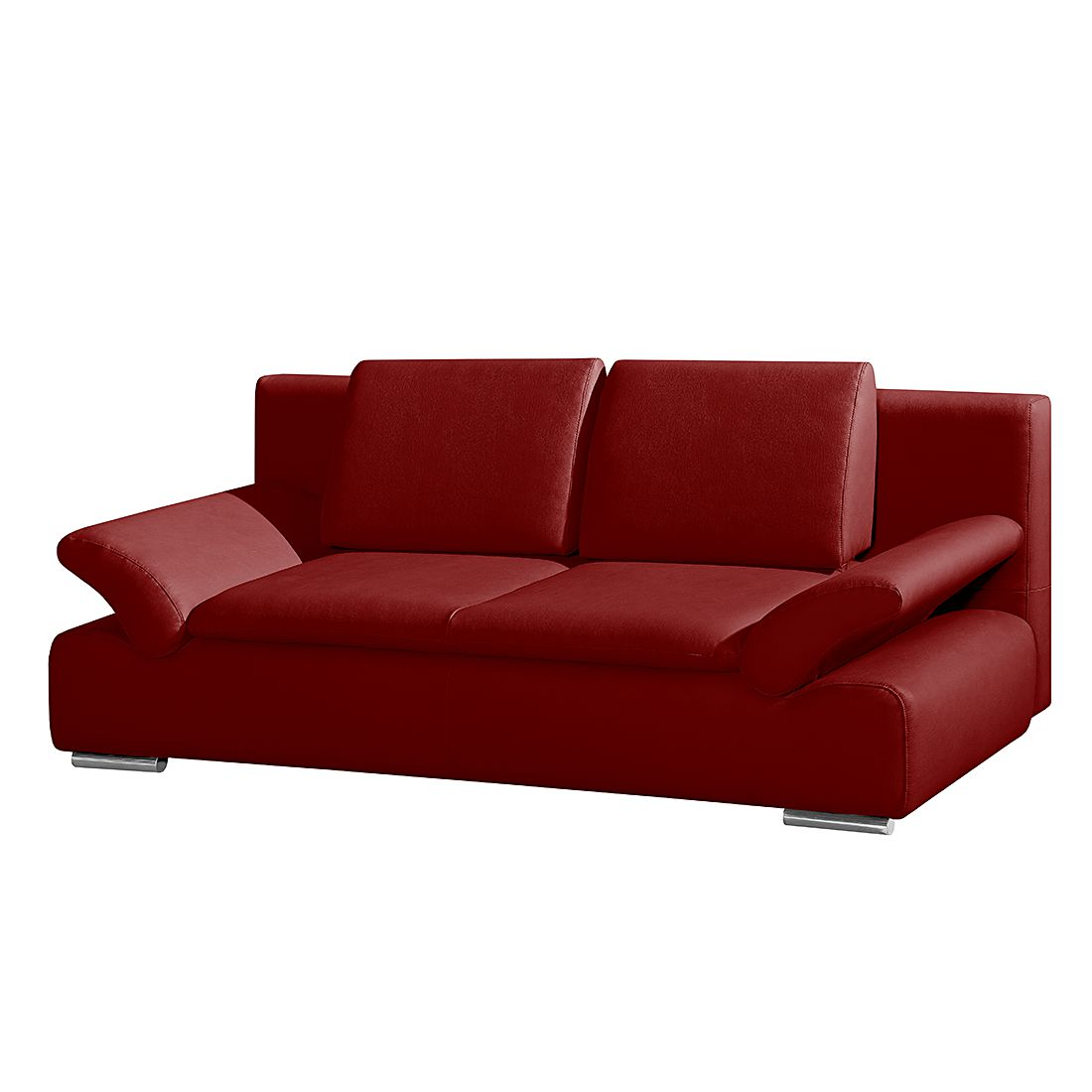 schlafsofa norris echtleder rot modoform g nstig. Black Bedroom Furniture Sets. Home Design Ideas
