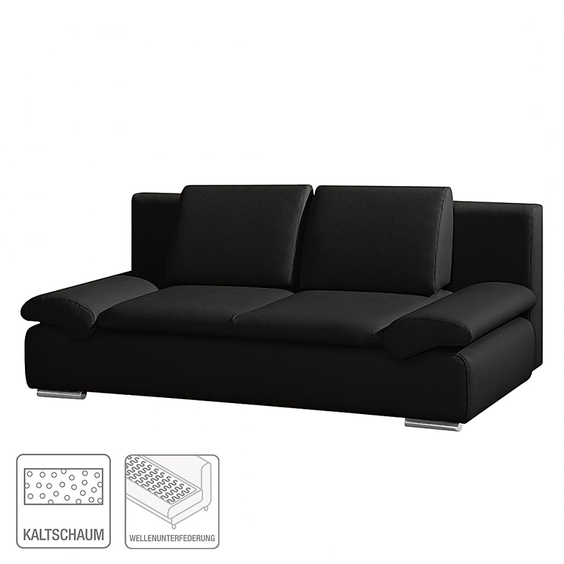 schlafsofa norris kunstleder schwarz modoform g nstig. Black Bedroom Furniture Sets. Home Design Ideas