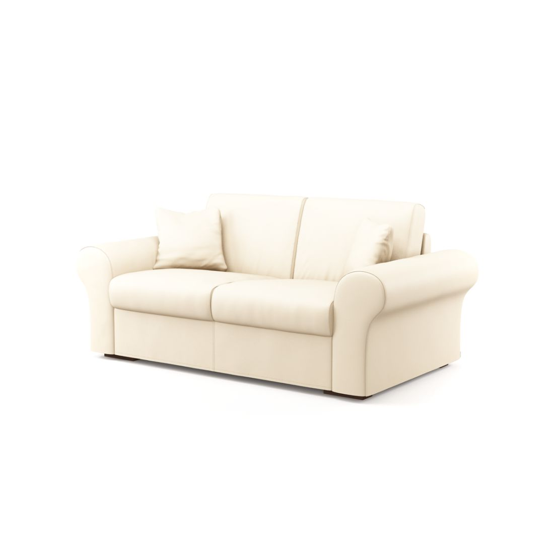 Schlafsofa Novo (2-Sitzer) – Soft 1401 (Creme), Von Wilmowsky günstig