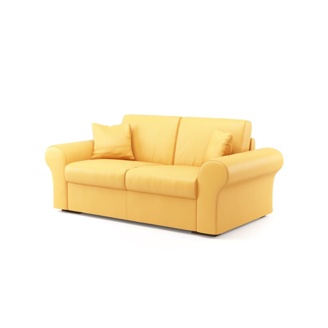 Schlafsofa Novo (2-Sitzer) – Soft 1406 (Gelb), Von Wilmowsky günstig online kaufen
