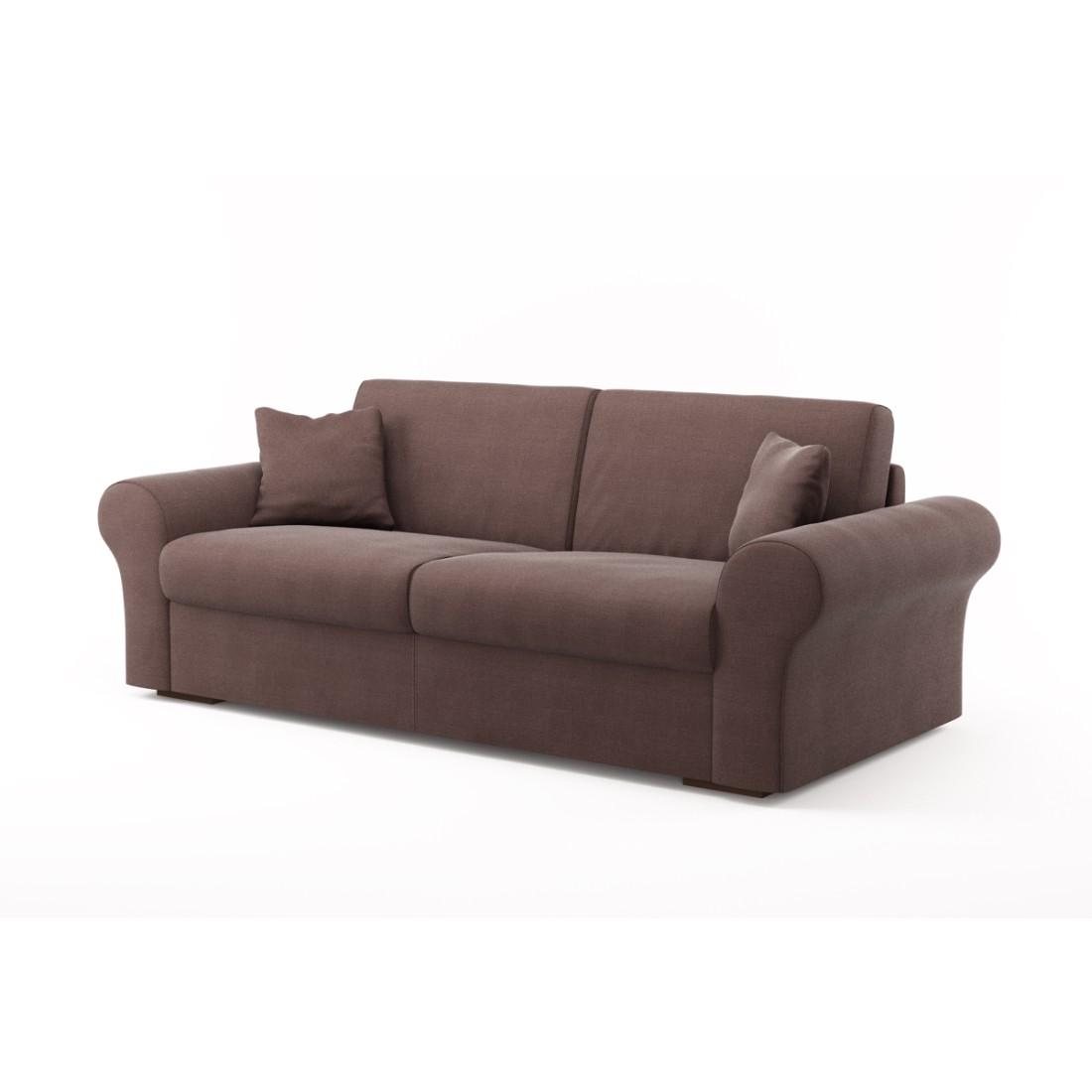 Schlafsofa Novo (3-Sitzer) – Luna Comfort 6 153 (Schlamm), Von Wilmowsky günstig