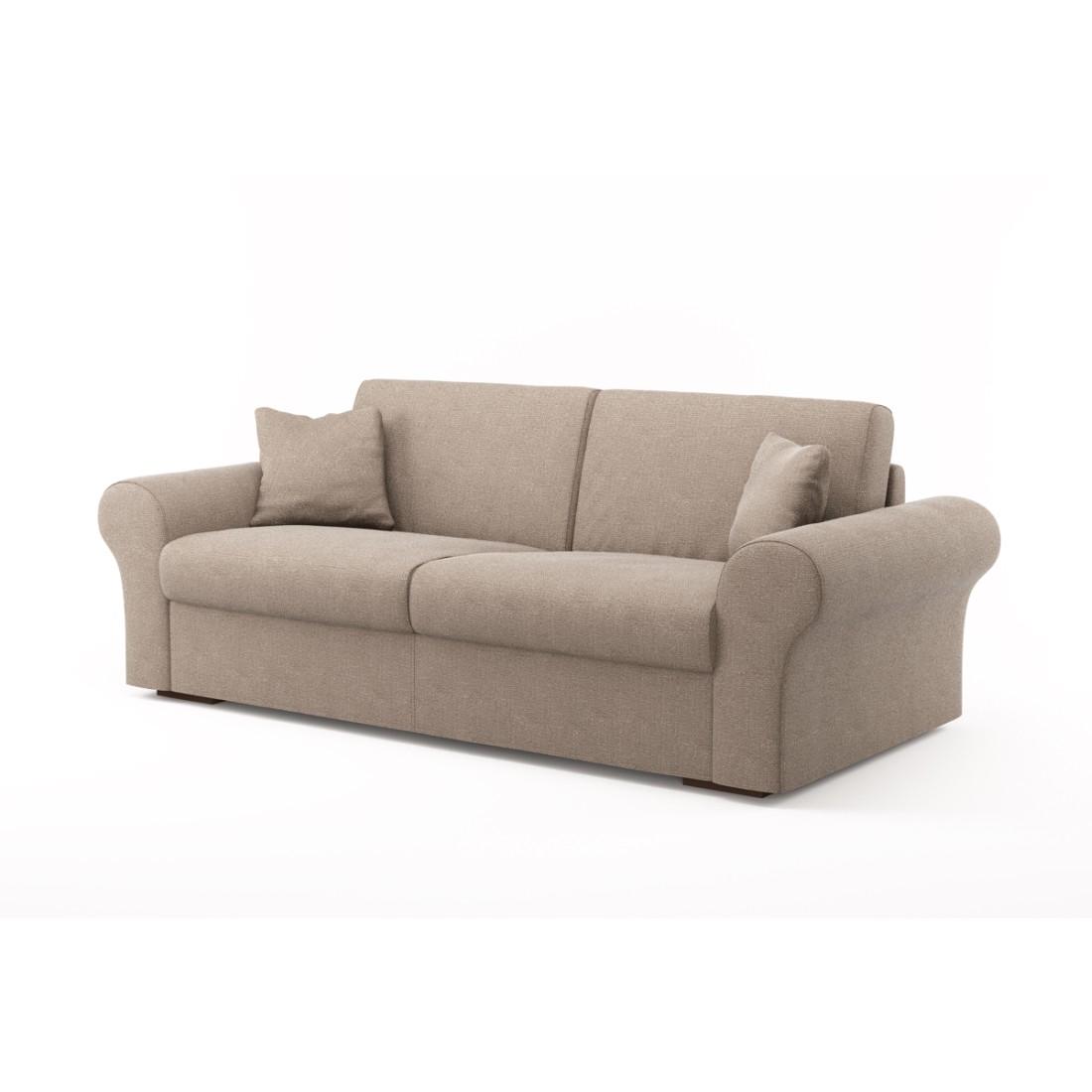 Schlafsofa Novo (3-Sitzer) – Luna Comfort 6 156 (Hellbraun), Von Wilmowsky kaufen