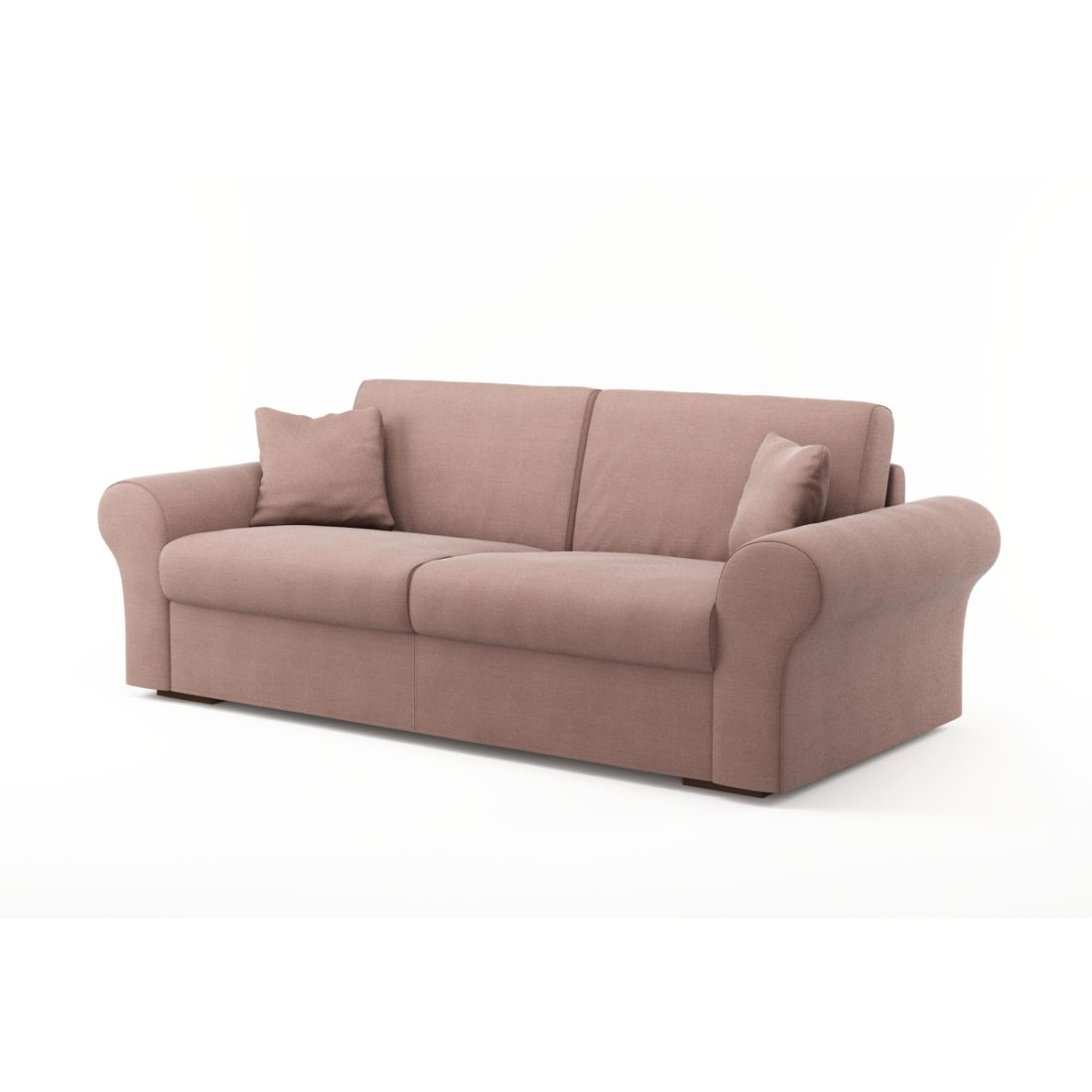 Schlafsofa Novo (3-Sitzer) – Luna Comfort 6 158 (Pflaume), Von Wilmowsky günstig online kaufen