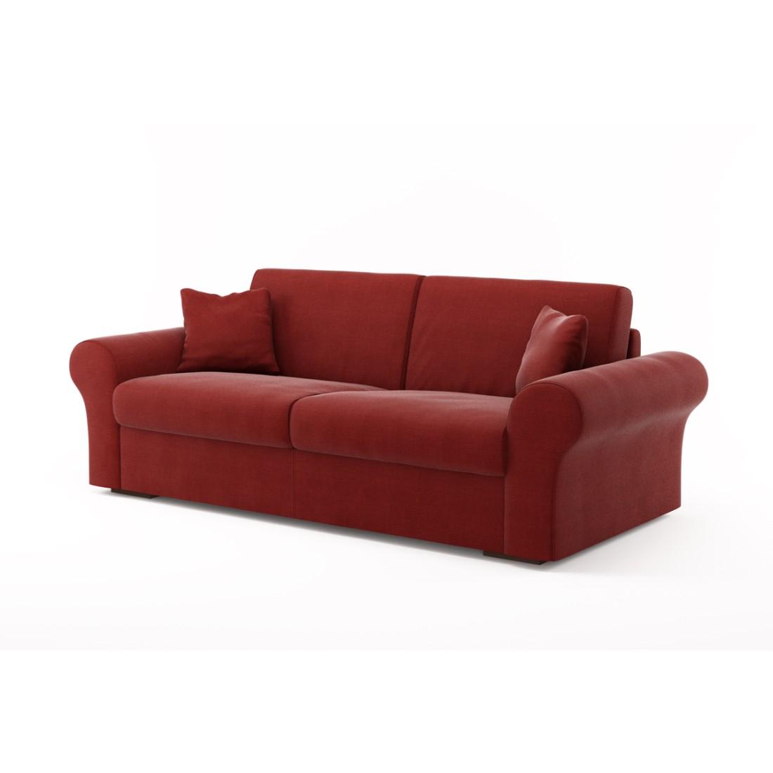 Schlafsofa Novo (3-Sitzer) – Mercurio 17 (Bordeauxrot), Von Wilmowsky günstig bestellen