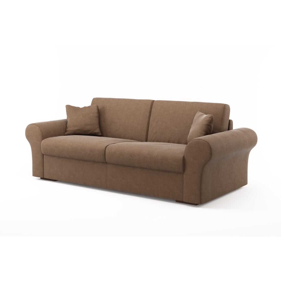 Schlafsofa Novo (3-Sitzer) – Luna Comfort 6 159 (Nussbraun), Von Wilmowsky jetzt kaufen