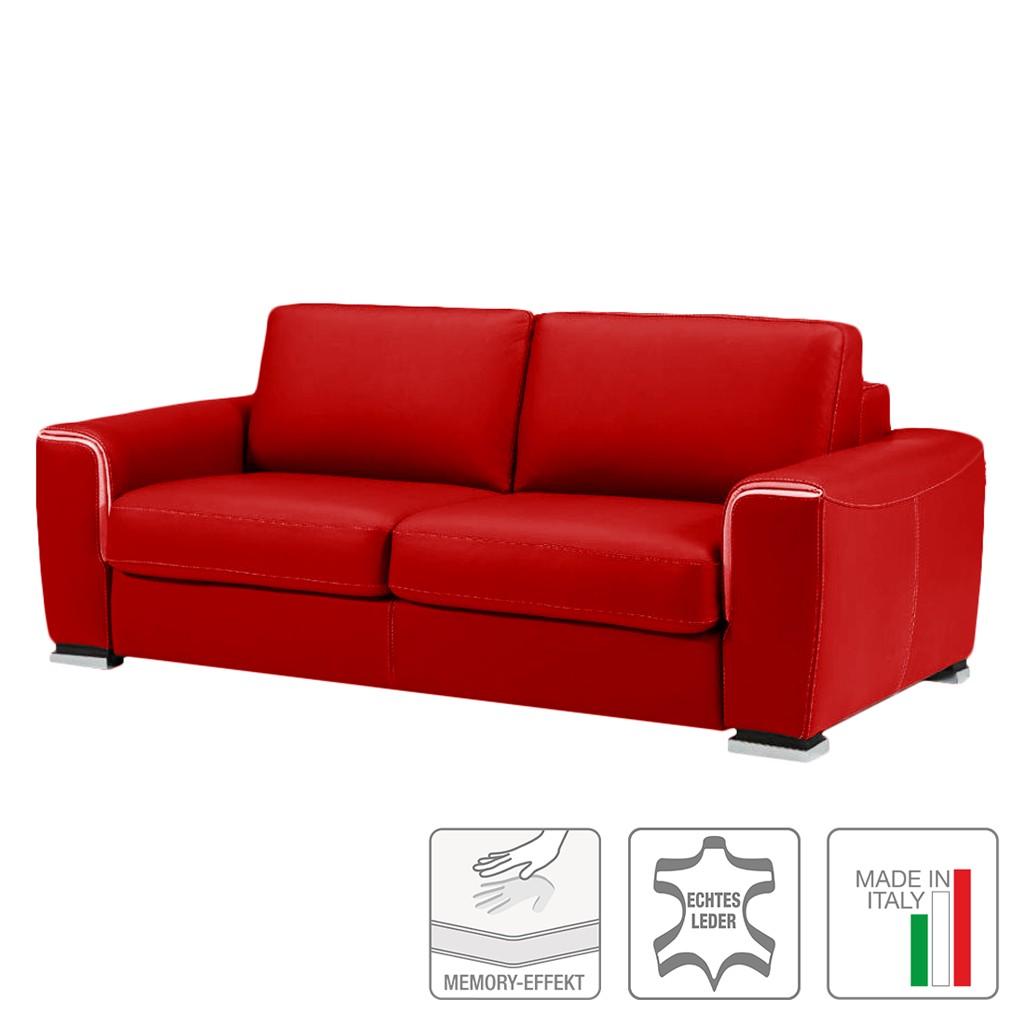 Schlafsofa otello i echtleder rot trend italiano jetzt for Schlafsofa bestellen