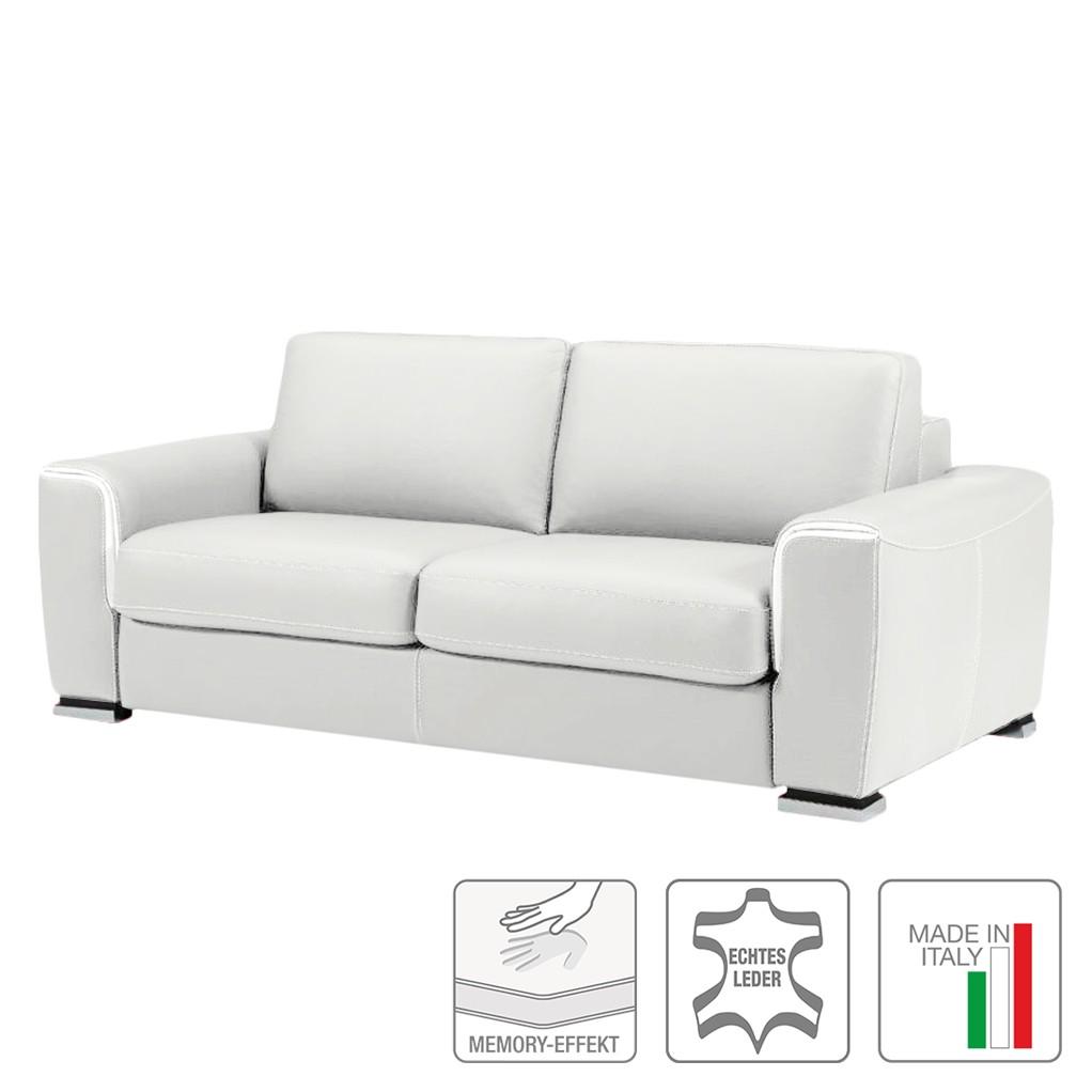 Schlafsofa Otello II – Echtleder Weiß, Trend Italiano günstig kaufen