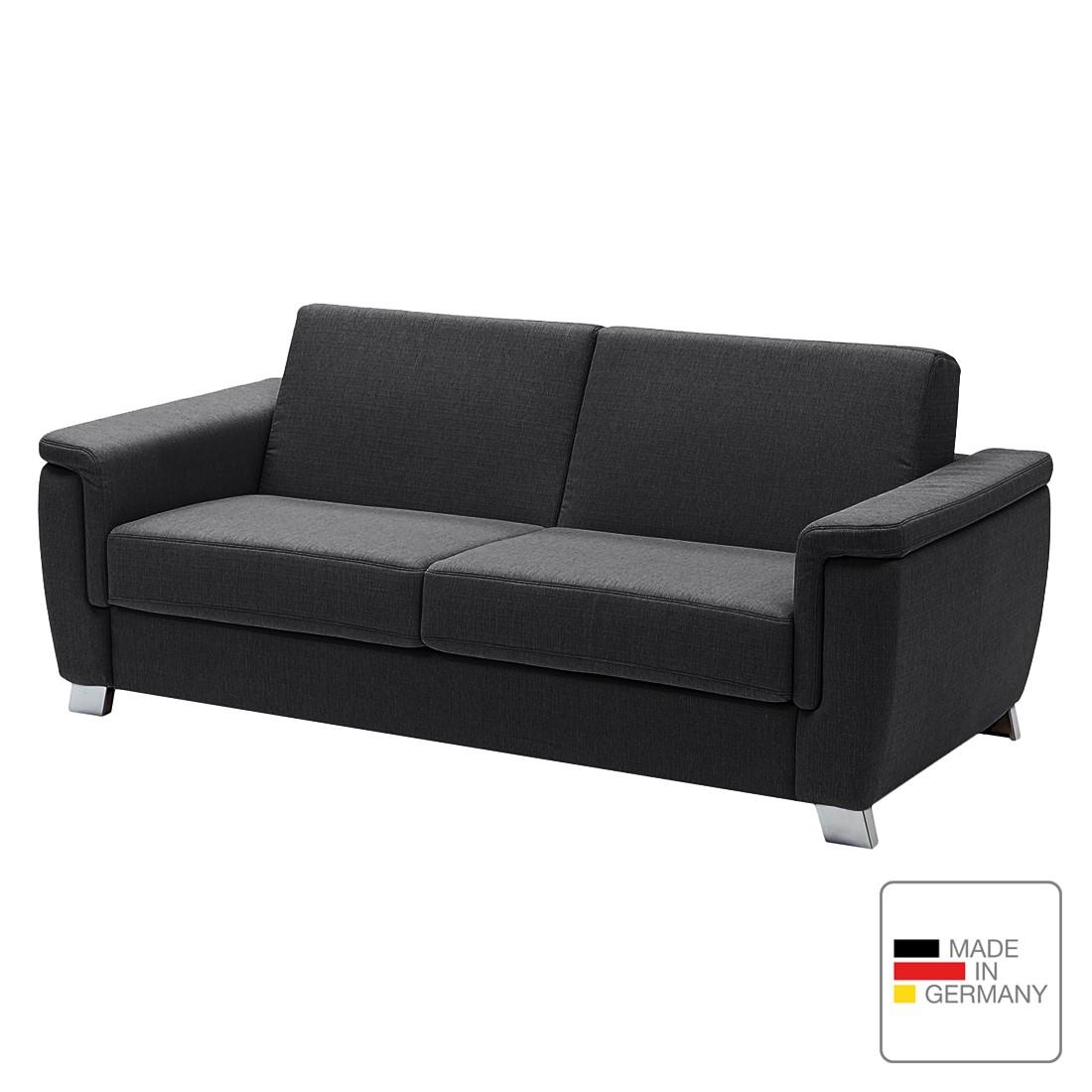 Schlafsofa Pidaro I – Webstoff – Markenkaltschaum – Grau – Breite Armlehne, Studio Monroe jetzt kaufen