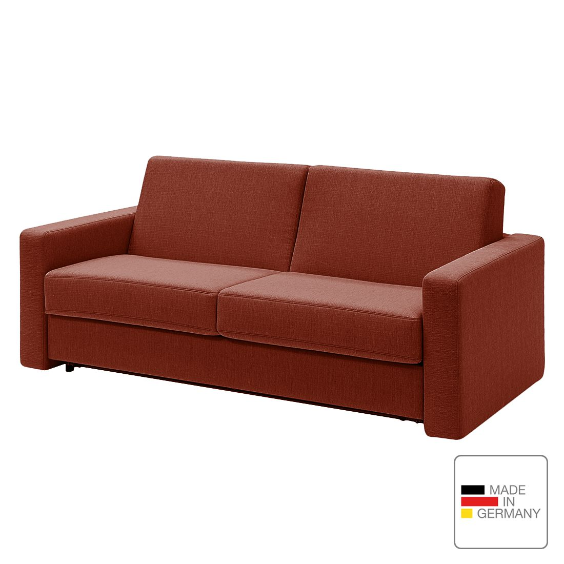 schlafsofa pidaro ii webstoff schaumstoff rot gerade armlehnen studio monroe g nstig kaufen. Black Bedroom Furniture Sets. Home Design Ideas