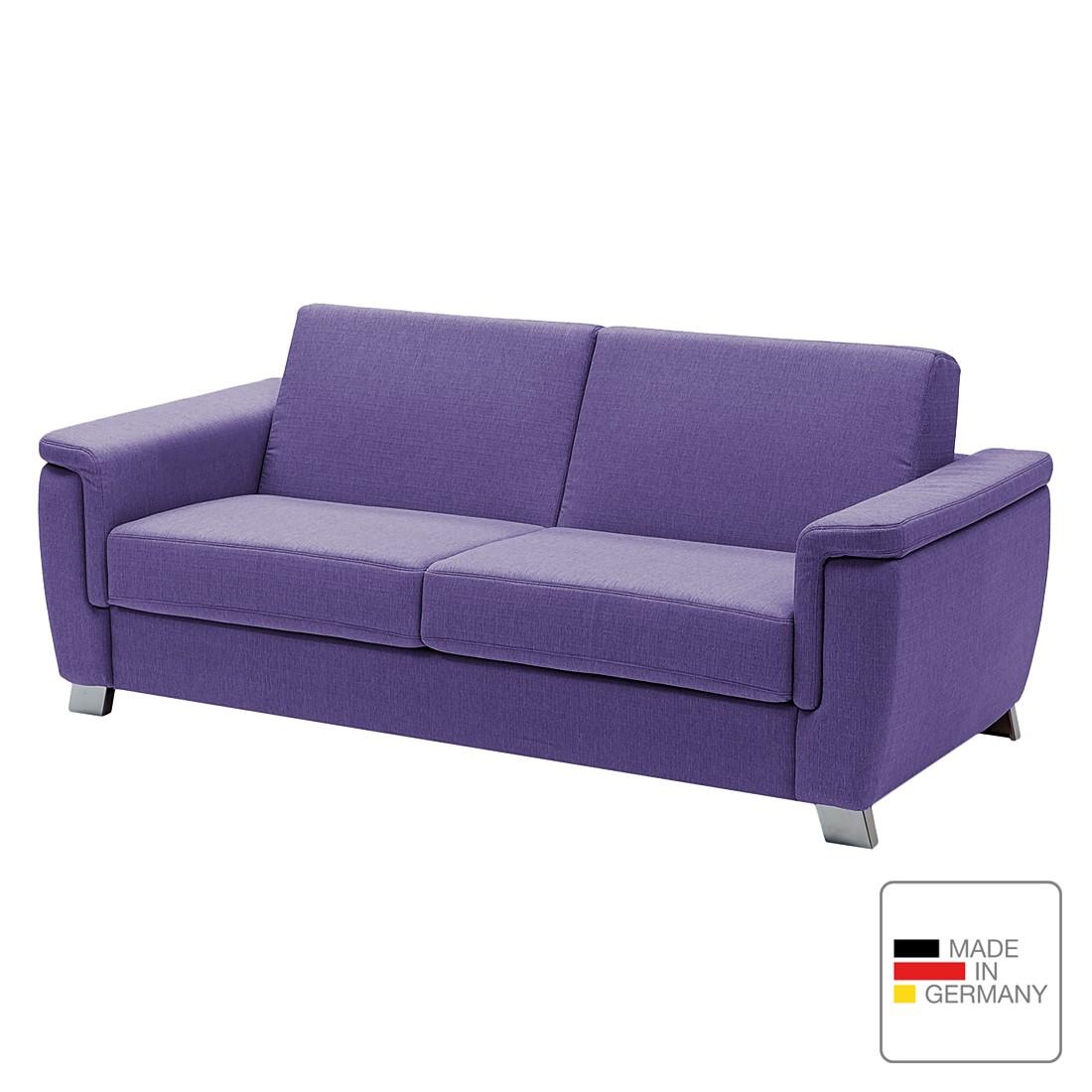 Schlafsofa Pidaro II – Webstoff – Schaumstoff – Violett – Abgerundete Armlehnen, Studio Monroe kaufen