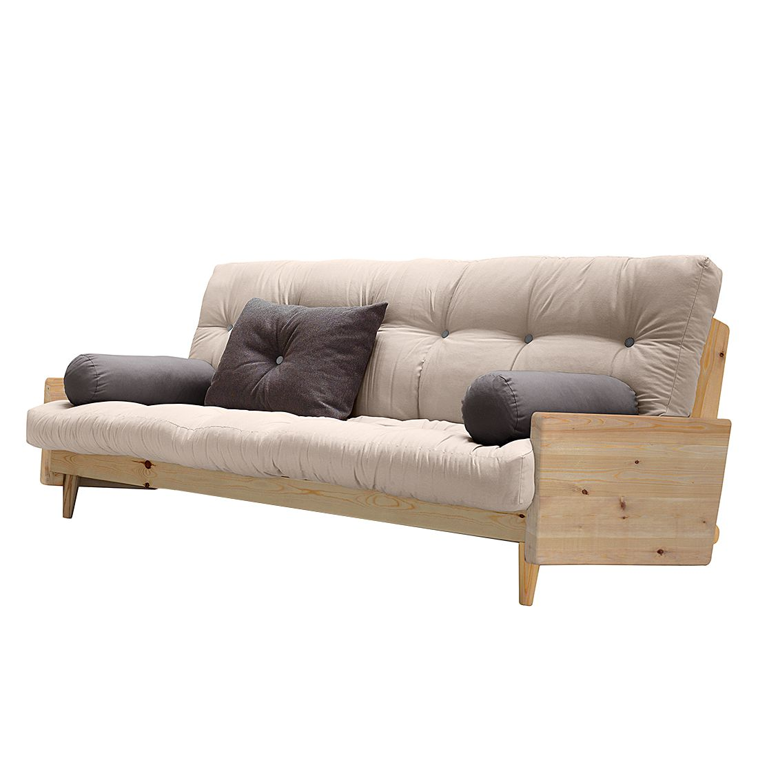 slaapbank buckle up futon grijsbordeaux karup in de aanbieding kopen. Black Bedroom Furniture Sets. Home Design Ideas