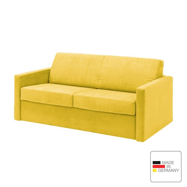 Schlafsofa Revista – Microfaser – Gelb, Studio Monroe günstig bestellen