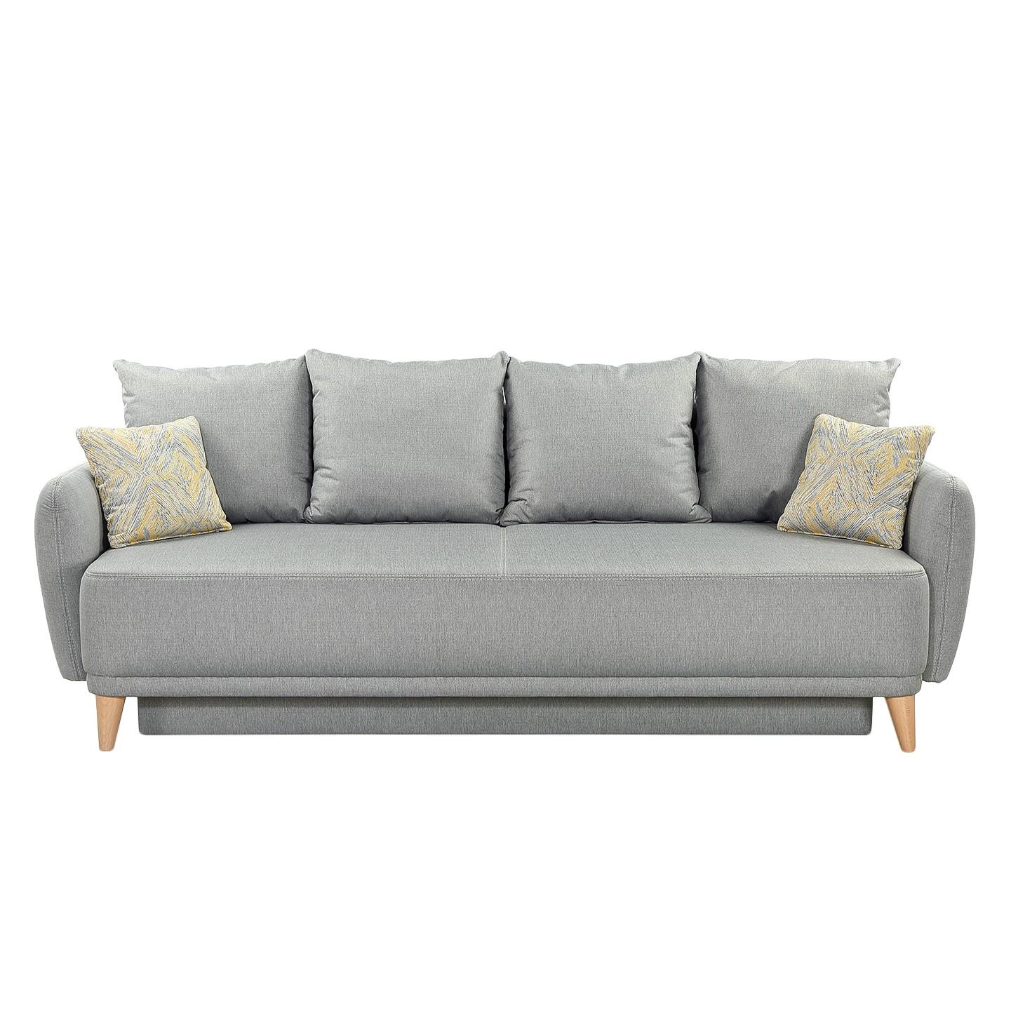 Schlafsofa Silvassa - Webstoff - Grau, Home Design