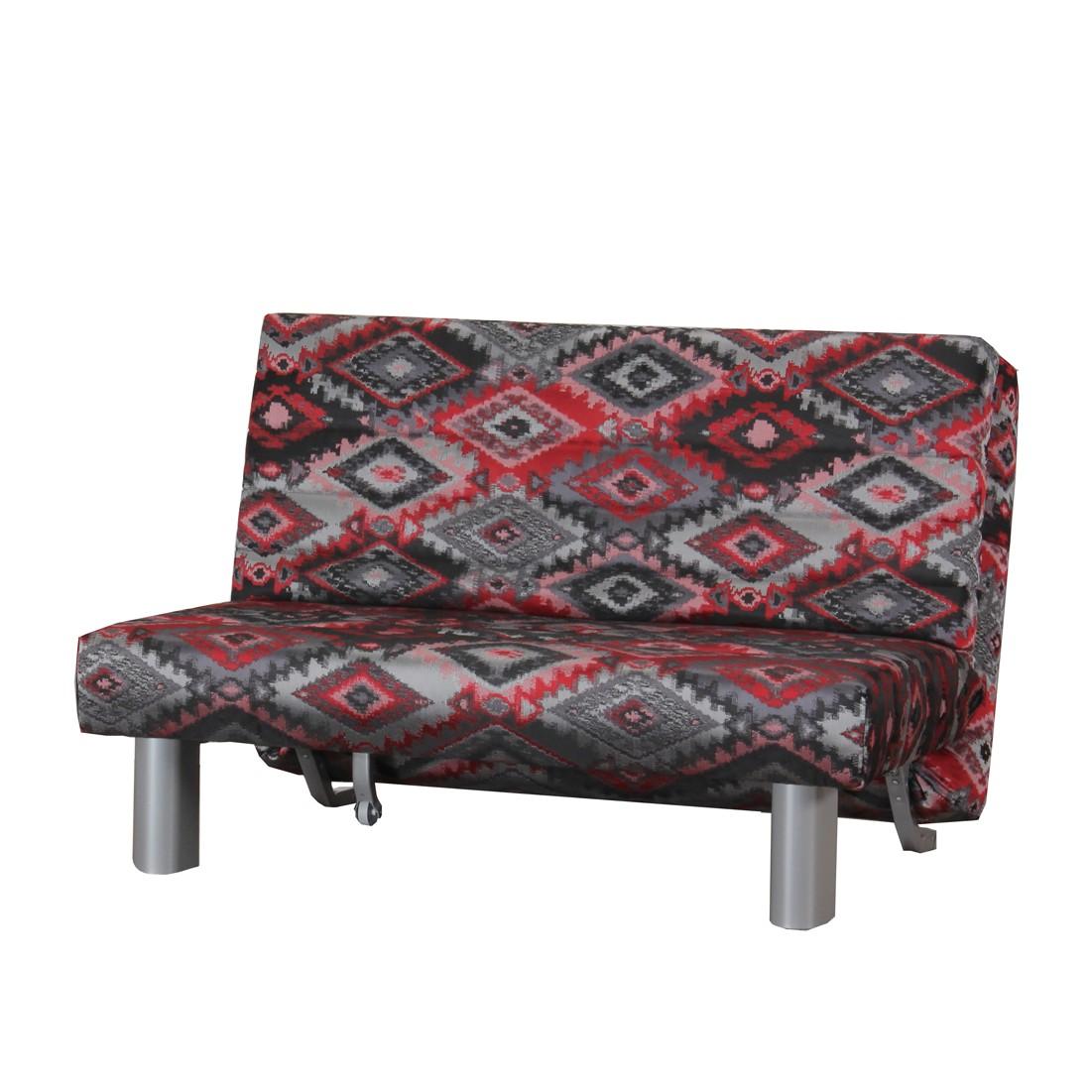 Schlafsofa Sonero – Grau-Rot – Klappbar – Breite: 155 cm, TopDesign online kaufen