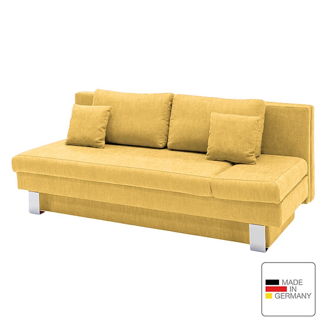 Schlafsofa Tabor – Webstoff – Armlehne davorstehend rechts – Gelb, Studio Monroe jetzt kaufen