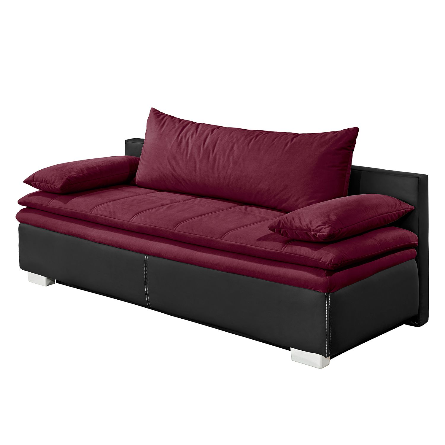 rotes sofa online kaufen. Black Bedroom Furniture Sets. Home Design Ideas