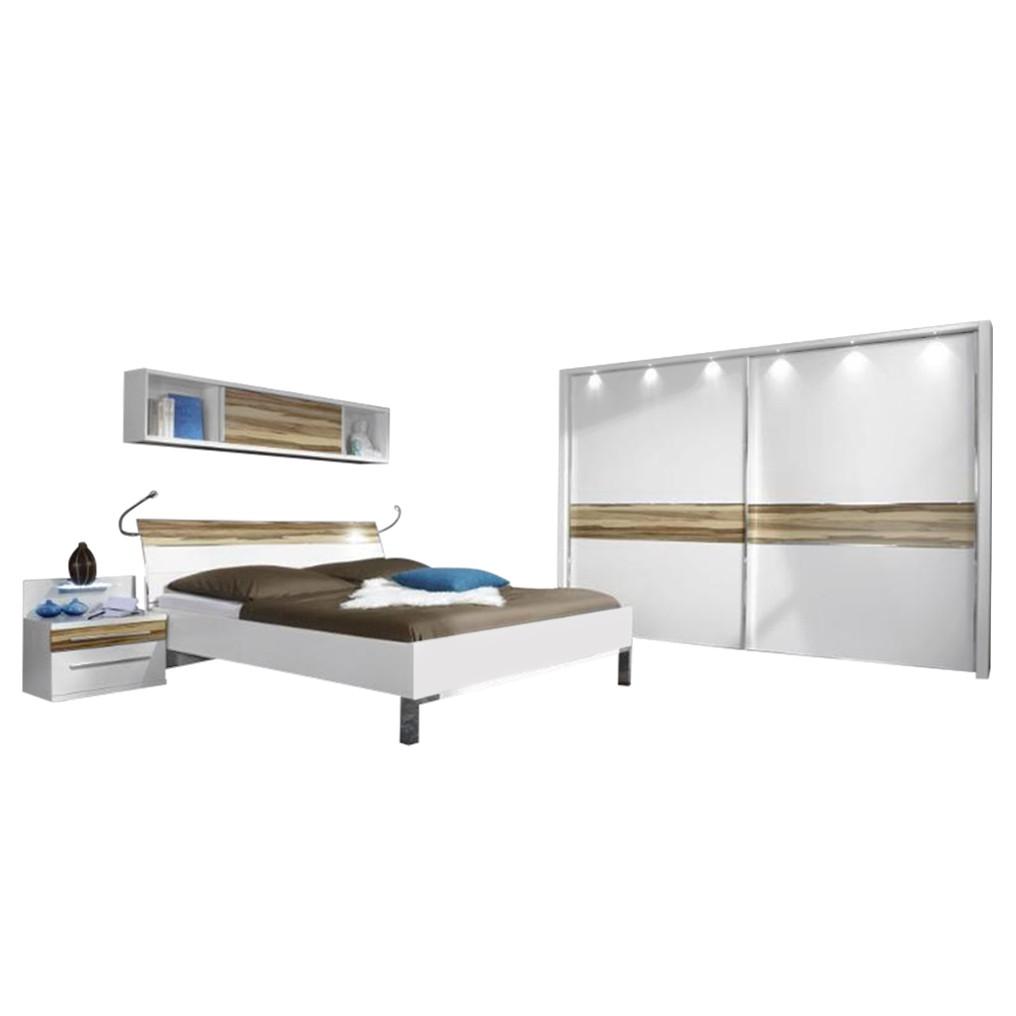 schlafzimmer alicante spanplatte alpinwei 221x260x67 althoff g nstig. Black Bedroom Furniture Sets. Home Design Ideas