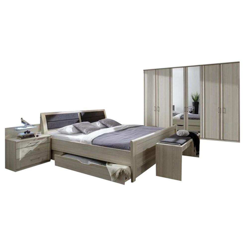 Schlafzimmer II Luxor 4 – Edel Esche Dekor – Edel Esche – 125x194x58, Althoff bestellen