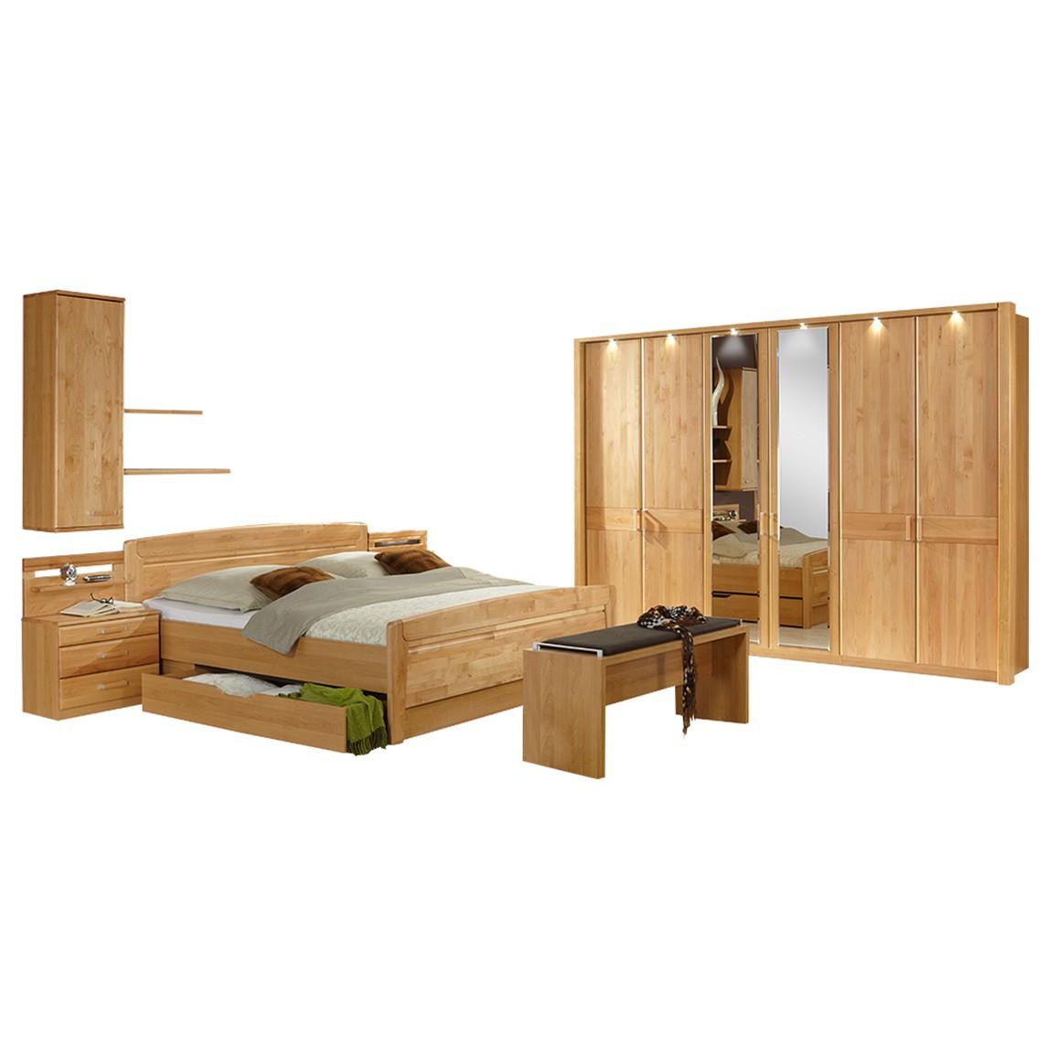 Schlafzimmer komplett Lausanne I – Erle Dekor/Erle Massiv, Althoff bestellen