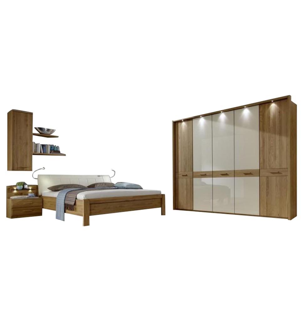 Schlafzimmer komplett Toledo – Eiche Nachbildung/Eiche massiv, Althoff jetzt kaufen